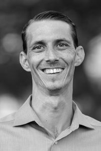 Black and white portrait photo of Jason McSweeney, founder of creative marketing agency Joint Media Marketing