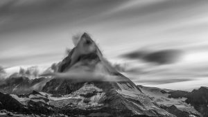 Stunning photo of mountaintop and clouds for creative marketing videos and photography