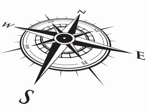 Black compass rose giving direction to your smb brand strategy
