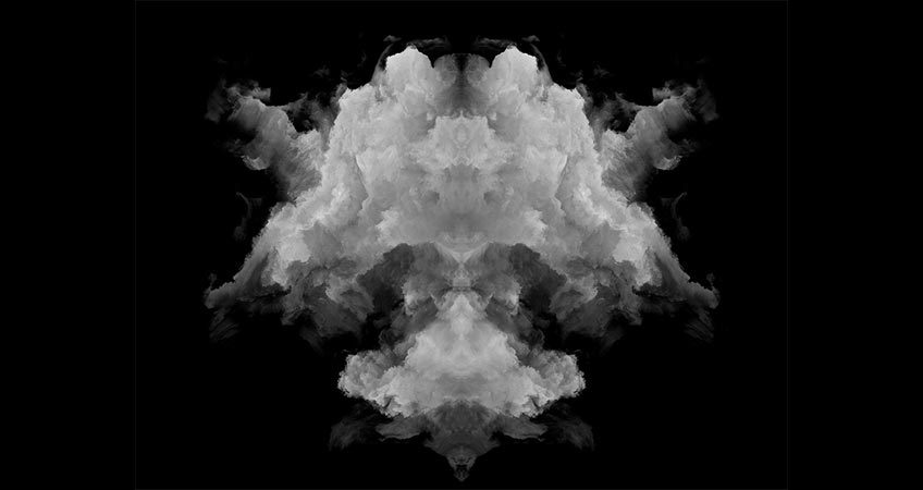 Rorschach test ink blot to represent the development of creative marketing strategies