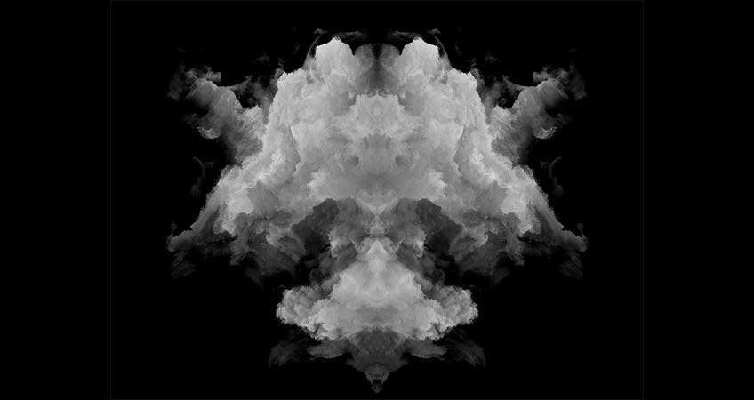 Rorschach test ink blot to represent the development of creative marketing strategies