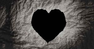 Grey background with heart to represent the heart of your brand