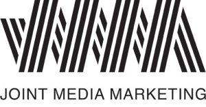 Black and white Joint Media Marketing logo