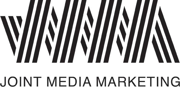 Black and white Joint Media Marketing logo