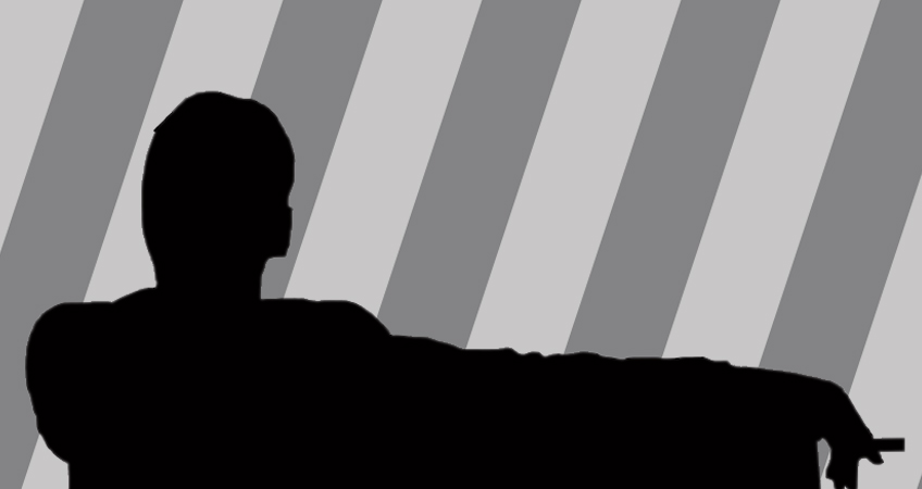 Silhouette of Draper, advertising executive and creative director